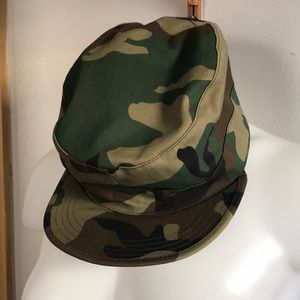 Accessories - Army hat, padded inside to keep ears warm.